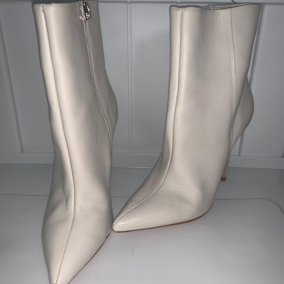 Schutz Designer White Booties Size 7